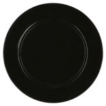 Black Basic Acrylic Charger Plate