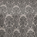 Black Camelot Damask Table Linen
