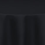 Black Duchess Satin Table Linen