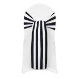 Black Printed Stripe Sash