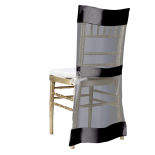 Black Saturn Chiavari Jacket Chair Cover