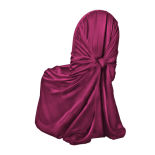 Burgundy Classic Satin Pillowcase Chair Cover