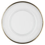 Gold Thin Rim Glass Charger Plate