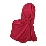Roja Red Duchess Satin Pillowcase Chair Cover
