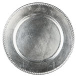 Silver Basic Acrylic Beaded Edge Charger Plate