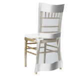 White Saturn Chiavari Jacket Chair Cover
