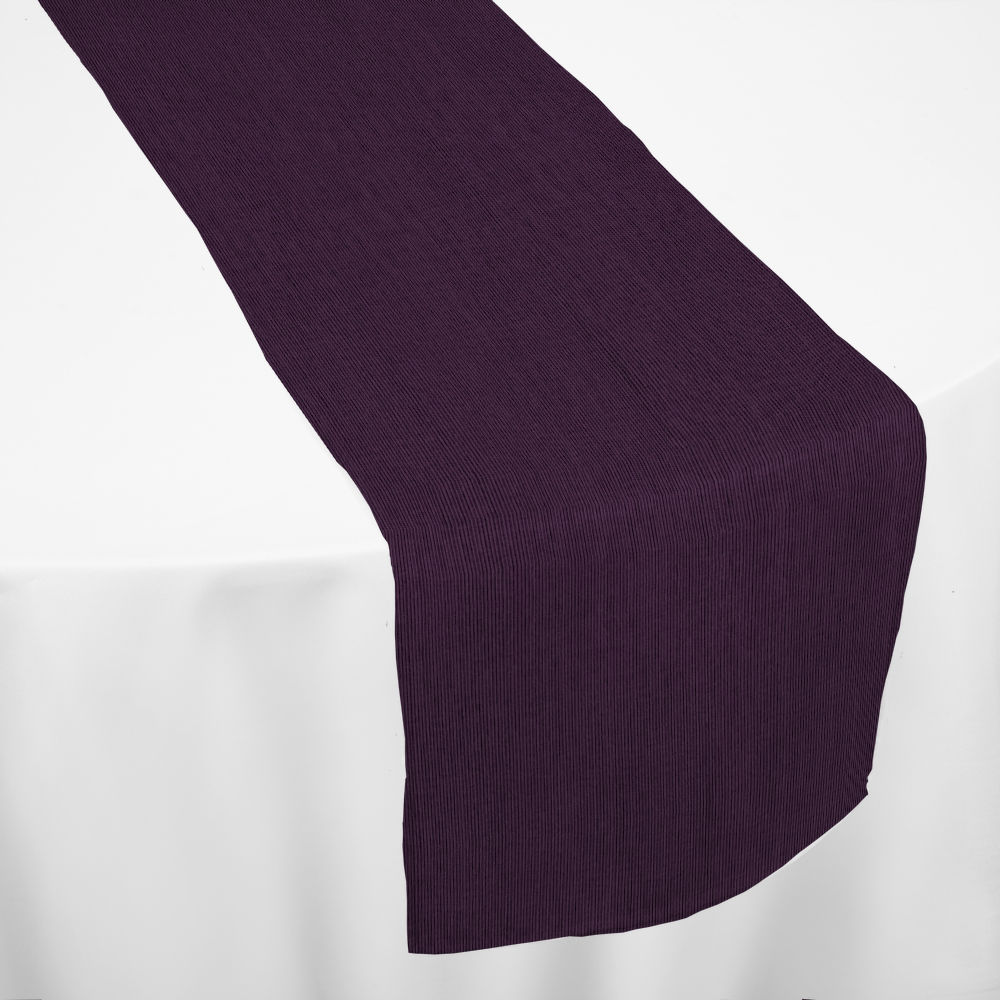 Amethyst Bengaline Moire Table Runner By Chair Covers Amp Linens