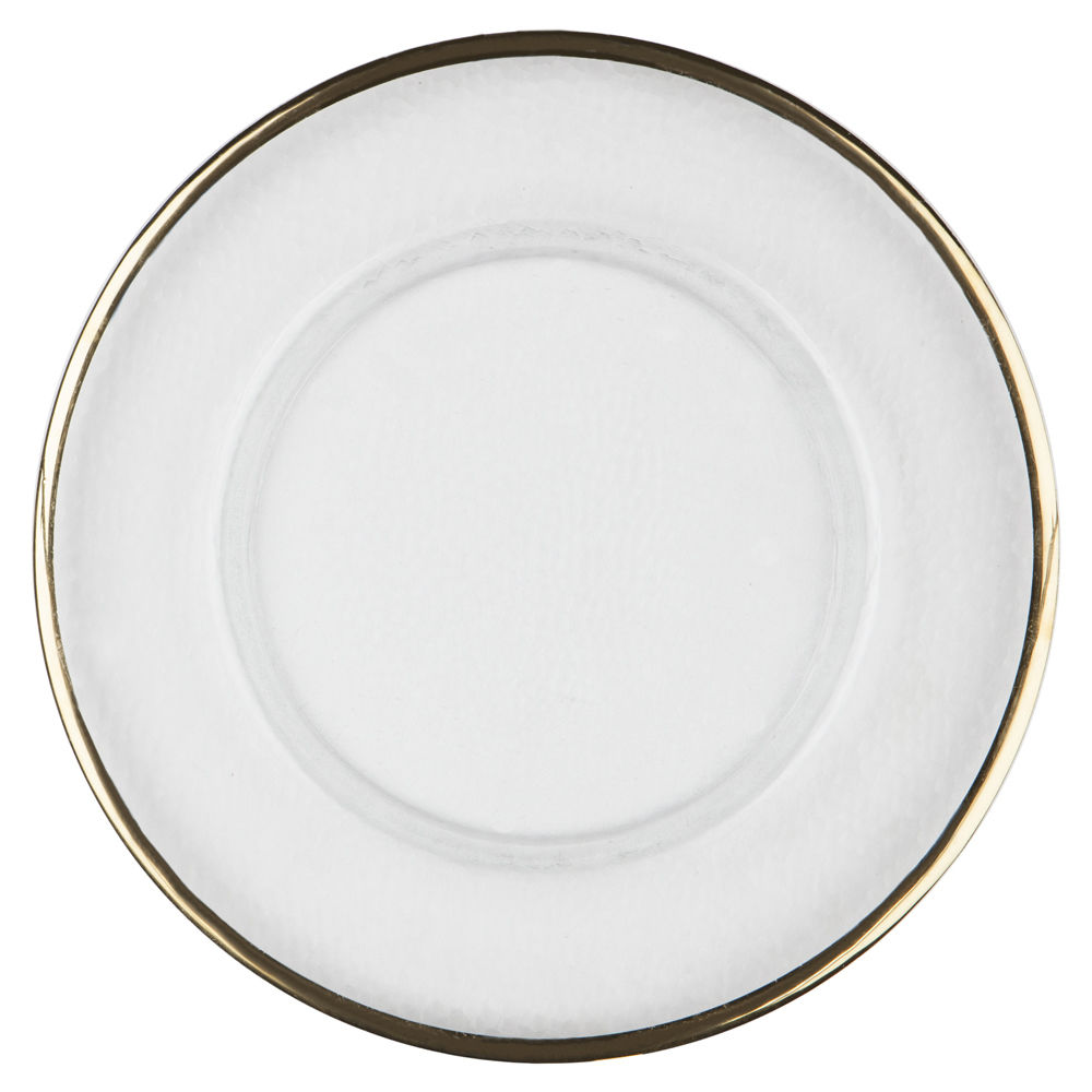 Gold Thin Rim Glass Charger Plate By Chair Covers Amp Linens