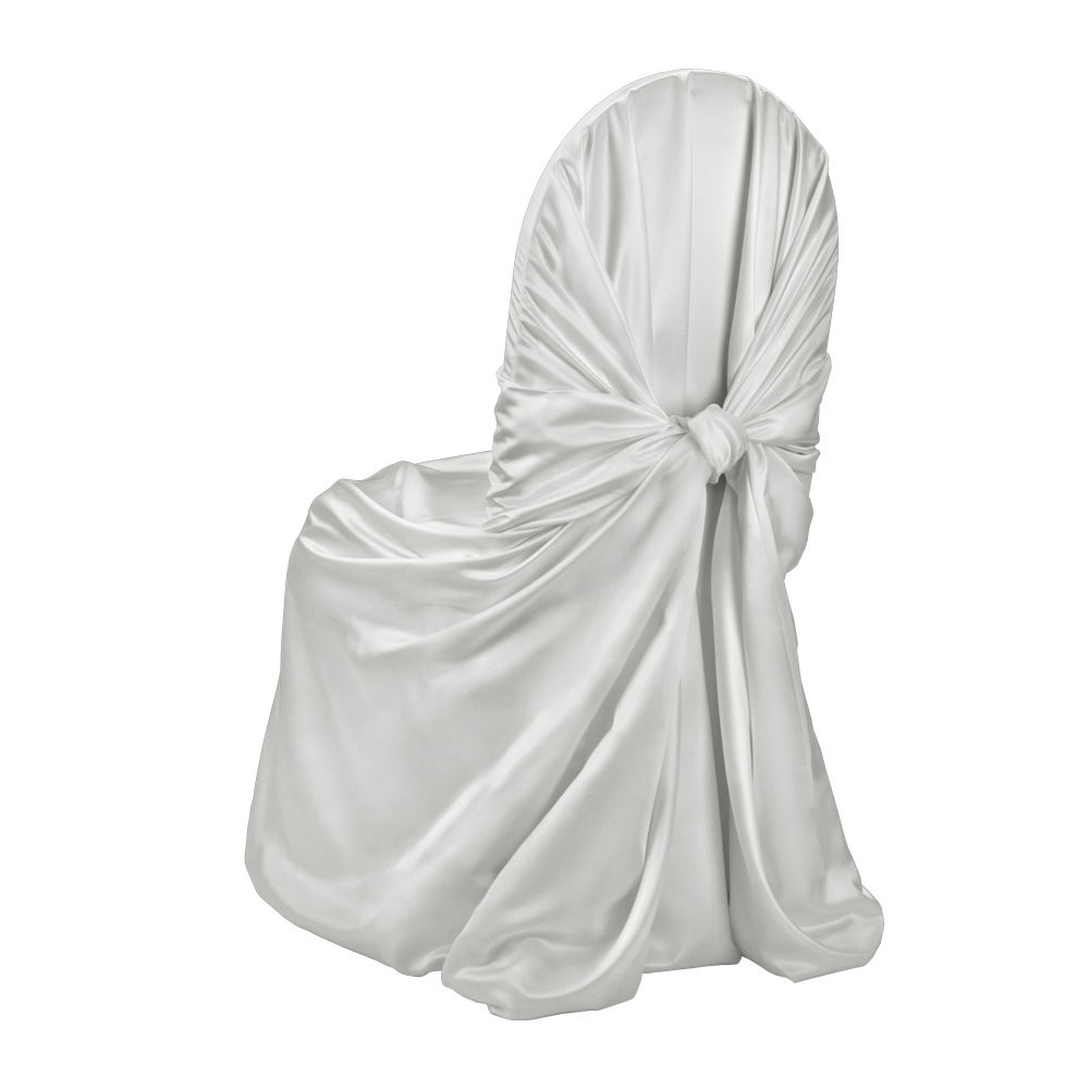 Light Silver Classic Satin Chair Cover