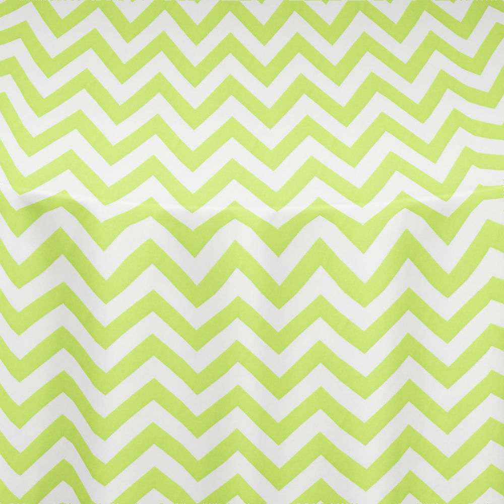 Lime Chevron Table Linen ...