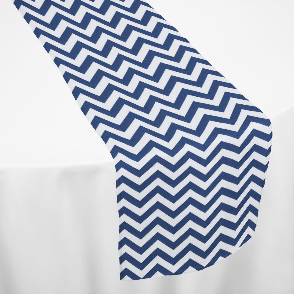 Navy Chevron Table Runner ...