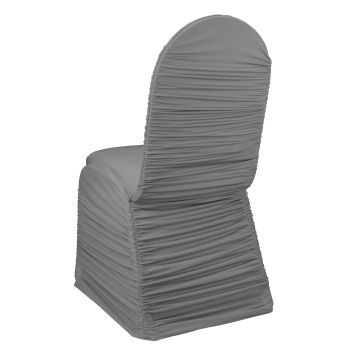 Platinum Ruched Chair Cover