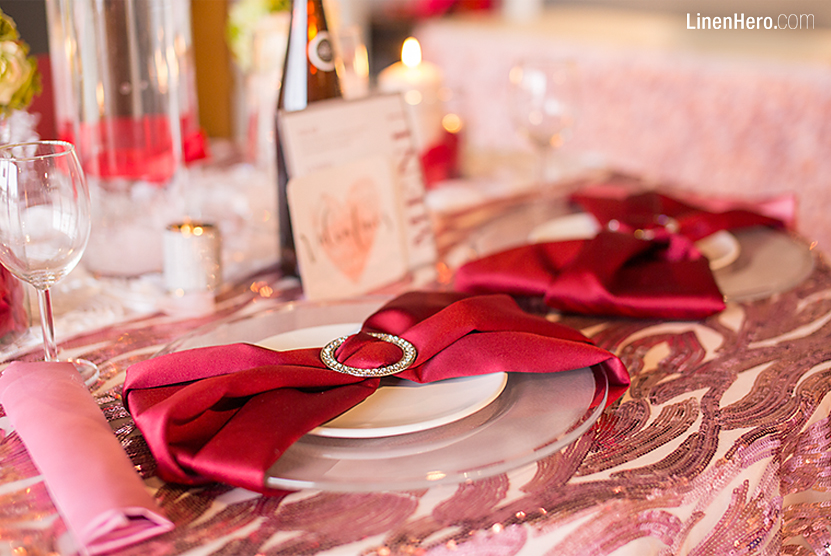LinenHero Valentines Red Pink Party Table