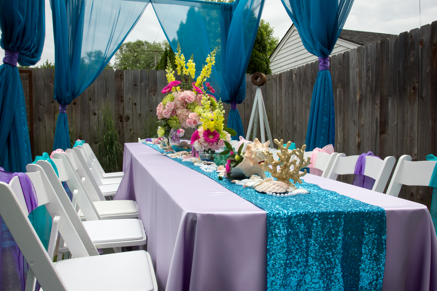 Under The Sea A Little Mermaid Lawn Party By Chair